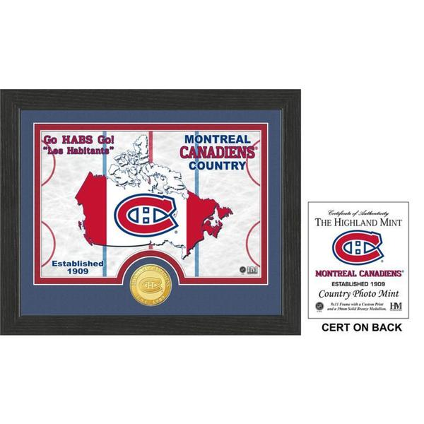 """Montreal Canadiens """"Country"""" Bronze Coin Photo Mint"""