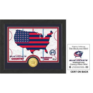 "Columbus Blue Jackets ""Country"" Bronze Coin Photo Mint"