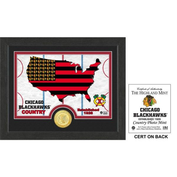 """Chicago Blackhawks """"Country"""" Bronze Coin Photo Mint"""