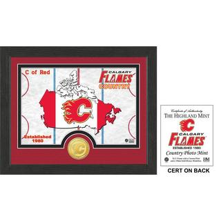 "Calgary Flames ""Country"" Bronze Coin Photo Mint"