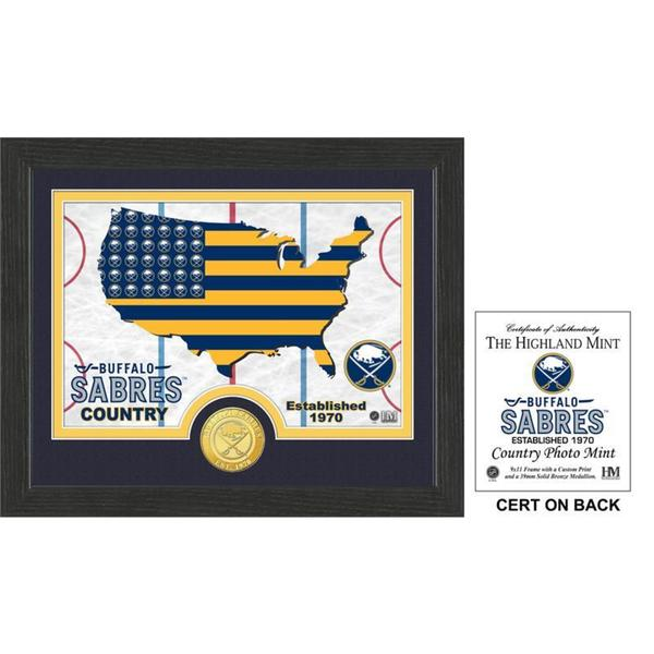 "Buffalo Sabres ""Country"" Bronze Coin Photo Mint"