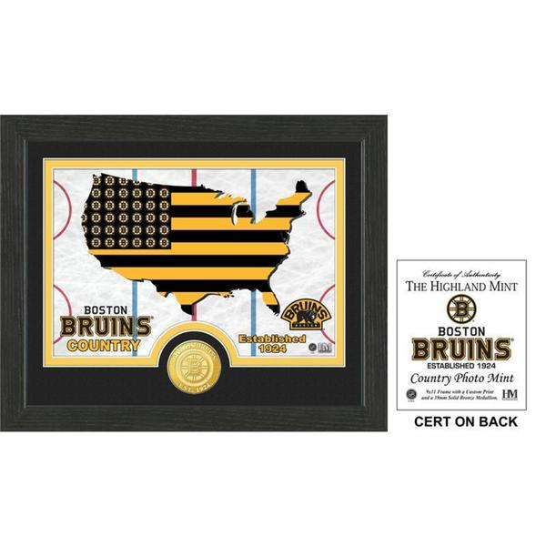 """Boston Bruins """"Country"""" Bronze Coin Photo Mint"""