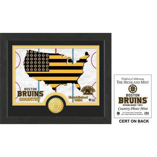 "Boston Bruins ""Country"" Bronze Coin Photo Mint"