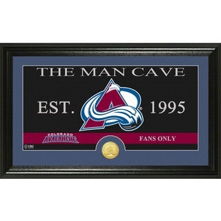 "Colorado Avalanche ""Man Cave"" Panoramic Bronze Coin Photo Mint"