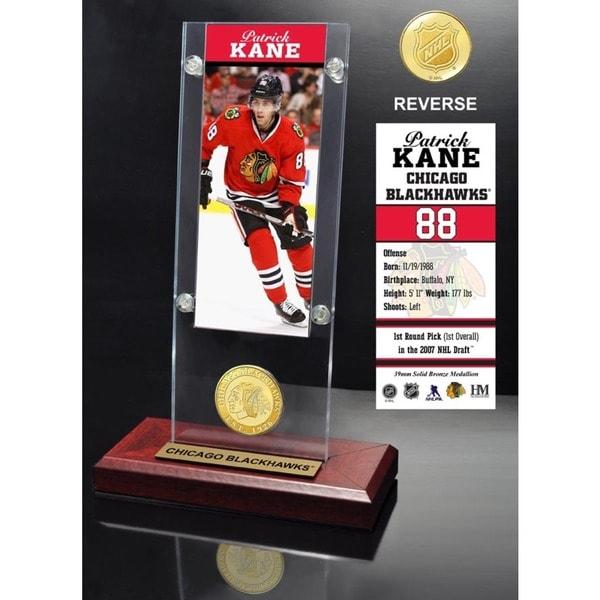 Patrick Kane Ticket & Bronze Coin Acrylic Desk Top