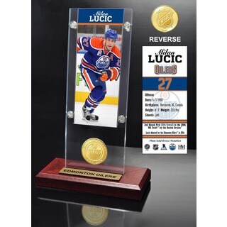 Milan Lucic Ticket & Bronze Coin Acrylic Desk Top