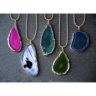 Mint Jules 24k Gold Overlay 30-inch Agate Slice Pendant Necklace|https://ak1.ostkcdn.com/images/products/13055590/P19793397.jpg?impolicy=medium