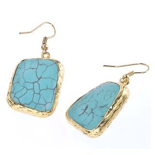 18k Goldplated Turquoise Earrings by Ever One