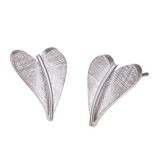 Stainless Steel Heart Stud Earrings by Ever One