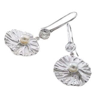 Ever One Sterling Silver Pearl Drop Earrings (6-7mm)