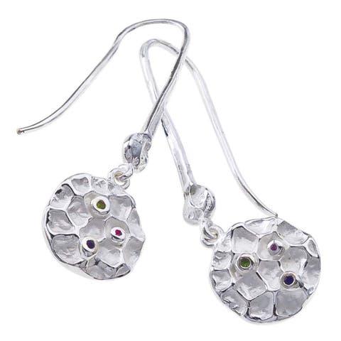 Sterling Silver Gemstone Drop Earrings by Ever One