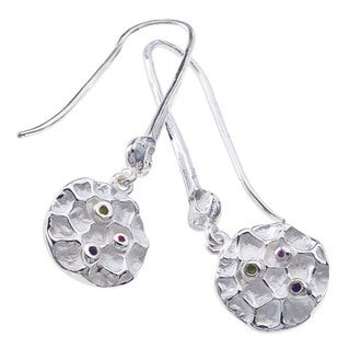 Ever One Sterling Silver Gemstone Drop Earrings