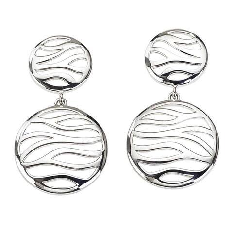 Women's Zebra Sterling Silver Drop Earrings by Ever One