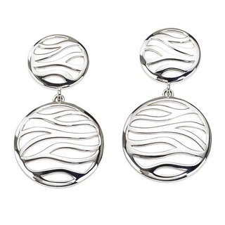 Women's Zebra Sterling Silver Drop Earrings by Ever One