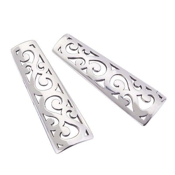 Women's Sterling Silver Drop 'I' Earrings by Ever One