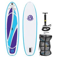 Airhead Fit 1032 White/Blue/Purple PVC and EVA Inflatable Stand-up Paddleboard