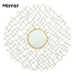 Benzara Goldtone Metal/Glass Wall Mirror