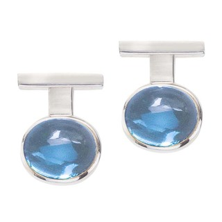 Women's Sterling Silver and Blue Topaz Earrings by Ever One