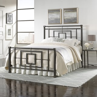 Sheridan Complete Bed with Squared Metal Tubing and Geometric Design