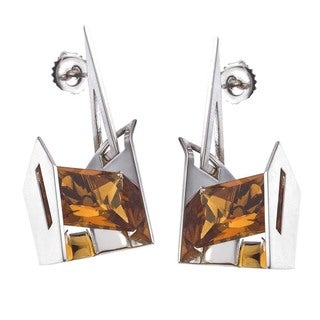 Sterling Silver and Citrine Earrings by Ever One
