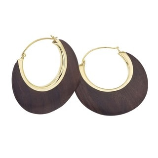 18k Vermeil Rosewood Crescent Earrings by Ever One