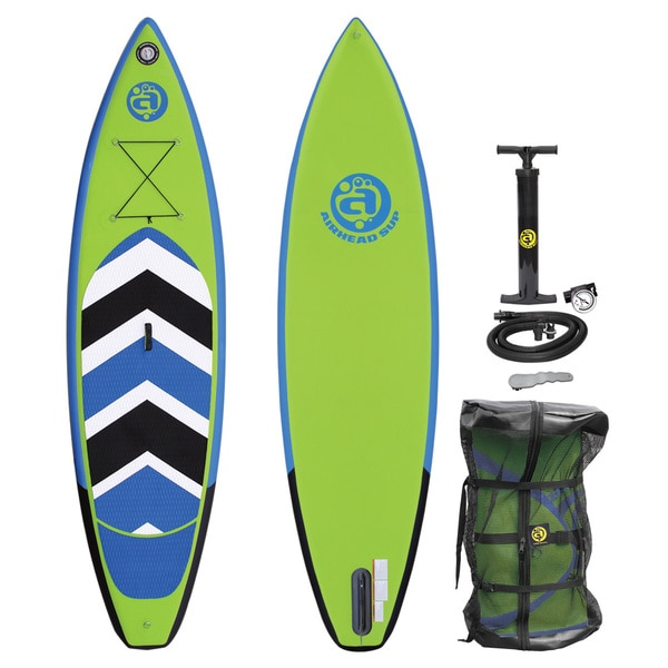 Airhead Pace 1030 Blue, Black, and Green PVC Inflatable Stand-up Paddleboard