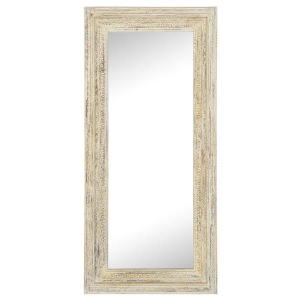 Ariel White Wood Framed Handcrafted