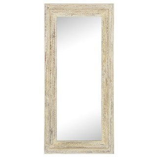Kosas Collections Ariel White Wood-framed Handcrafted Full-length Wall Mirror