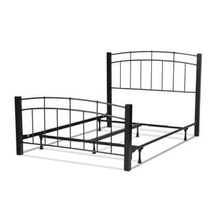 Scottsdale Complete Bed with Metal Duo Panels and Dark Espresso Wooden Posts