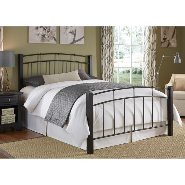 Scottsdale Complete Bed With Metal Duo Panels And Dark Espresso