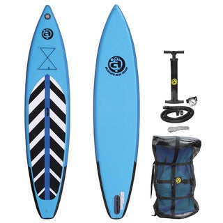 Airhead Pace 1230 Blue, Black, and White PVC Inflatable Stand-up Paddleboard