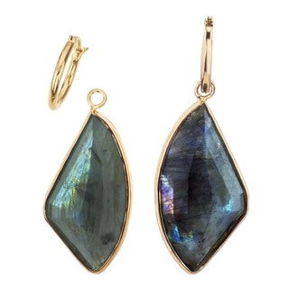 18k Vermeil and Labradorite Detachable Earrings by Ever One