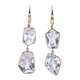 18k Yellow Gold Vermeil and Quartz Drop Earrings by Ever One