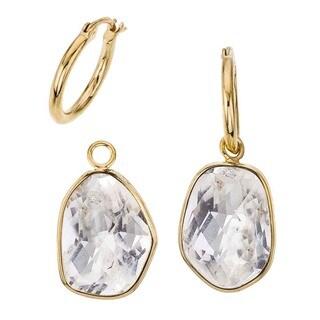 18k Vermeil/Quartz Detachable Drop Earrings by Ever One