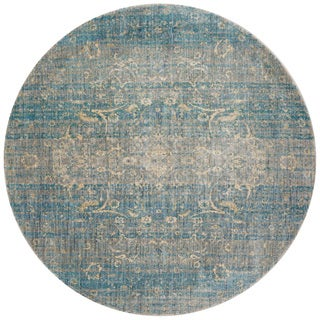 Contessa Light Blue/ Mist Rug (5'3 x 5'3 Round)
