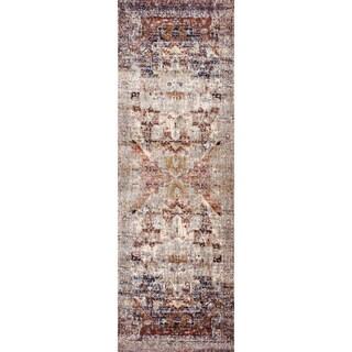 Contessa Slate/ Multi Runner Rug (2'7 x 8')