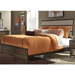 Hudson Square Beige Linen Upholstered Bed