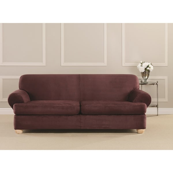 Shop Sure Fit Ultimate Stretch Suede 2 Cushion Sofa T