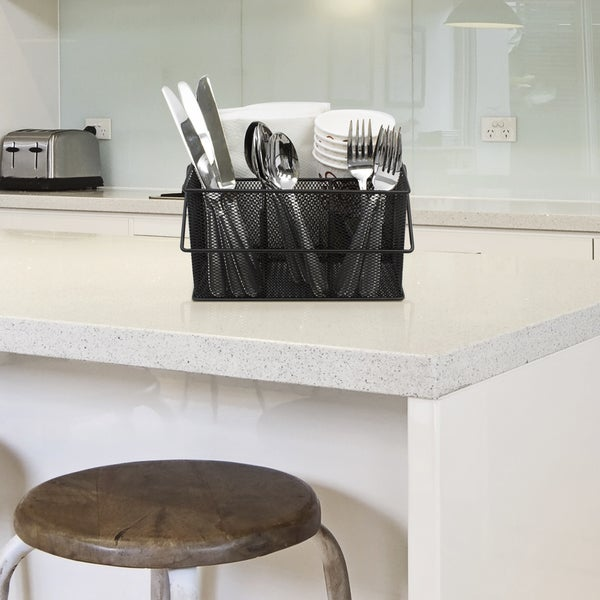 sorbus mesh utensil caddy silverware and napkin holder black free shipping on orders over 45