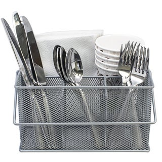 Link to Sorbus Mesh Utensil Caddy, Silverware and Napkin Holder, Silver Similar Items in Flatware
