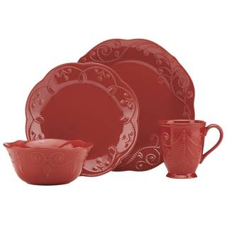 Lenox French Perle Cherry Red Stoneware 4-piece Place Setting