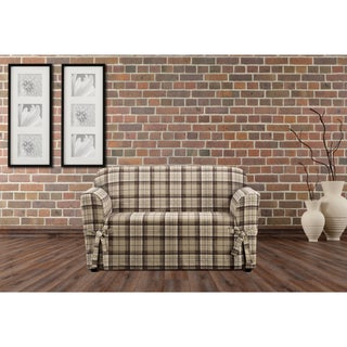 """Sure Fit Highland Holiday Plaid Loveseat Slipcover - 58 - 73"""""""