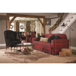 Sure Fit Highland Holiday Plaid Loveseat Slipcover