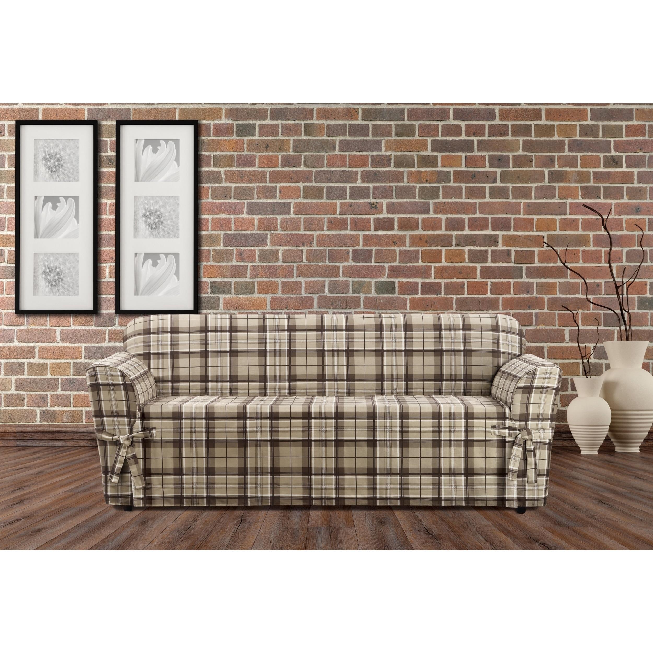 Sure Fit Highland Holiday Plaid Sofa Slipcover
