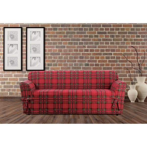 Sure Fit Highland Holiday Plaid Sofa Slipcover