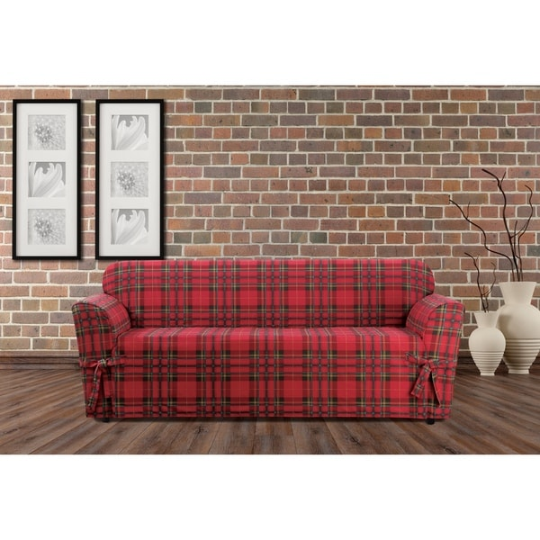 Shop Sure Fit Highland Holiday Plaid Sofa Slipcover Free