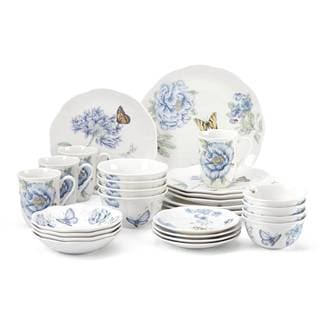 Lenox Butterfly Meadow Blue Porcelain 28-piece Dinnerware