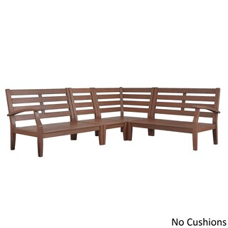 Yasawa Modern Brown Outdoor Cushioned Wood Sectional iNSPIRE Q Oasis (More options available)