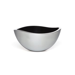 Savora Black Alloy 9-inch Serving Bowl with Enamel-coated Interior