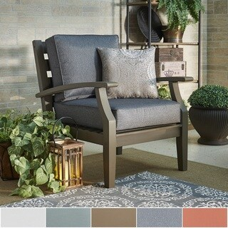 Yasawa Grey Modern Outdoor Cushioned Wood Chair iNSPIRE Q Oasis